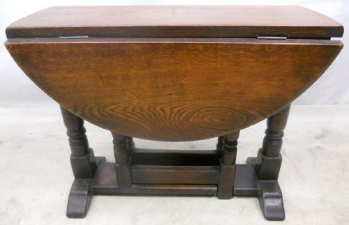 Antique Jacobean Style Oak Gateleg Coffee Table